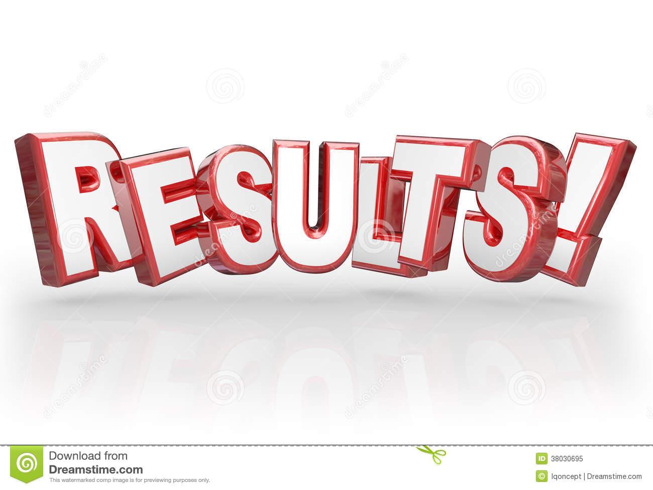 Results Clip Art