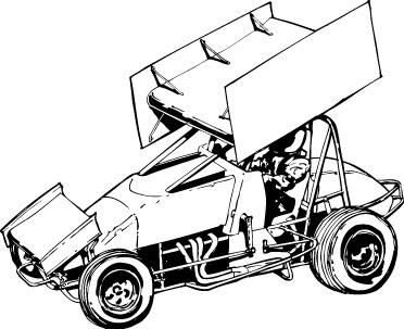 sprint car coloring pages - go kart sprint cars car repair manuals and wiring diagrams