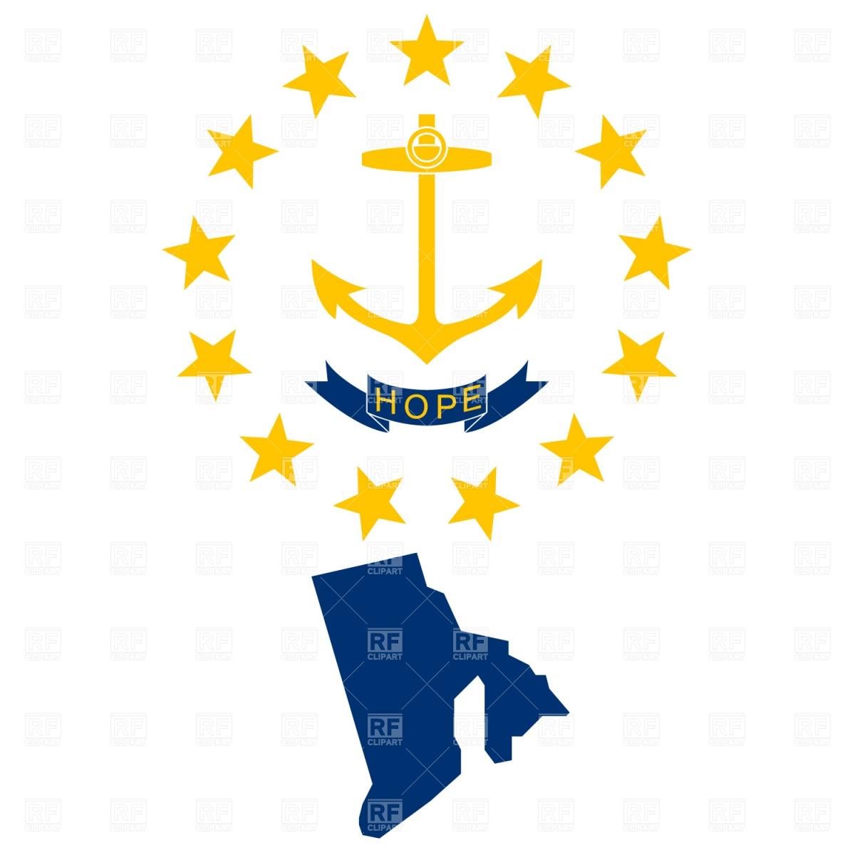 Flag For Rhode Island