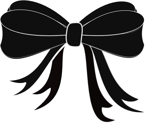 Bow black. Clipart and white panda