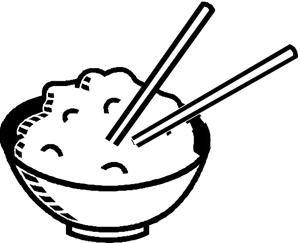 Rice Clipart Black And White on Healthy Food Fruit