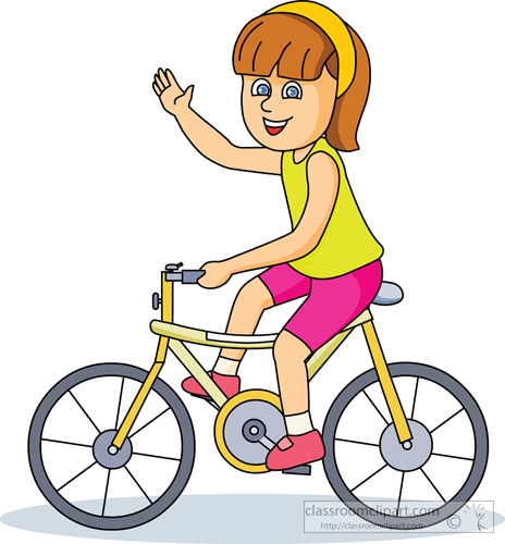 Kids Bike Riding Clipart