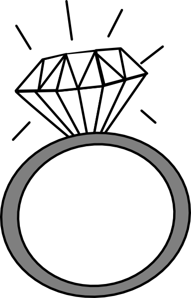 ring20clipart20black20and20white - Wedding Rings Clipart