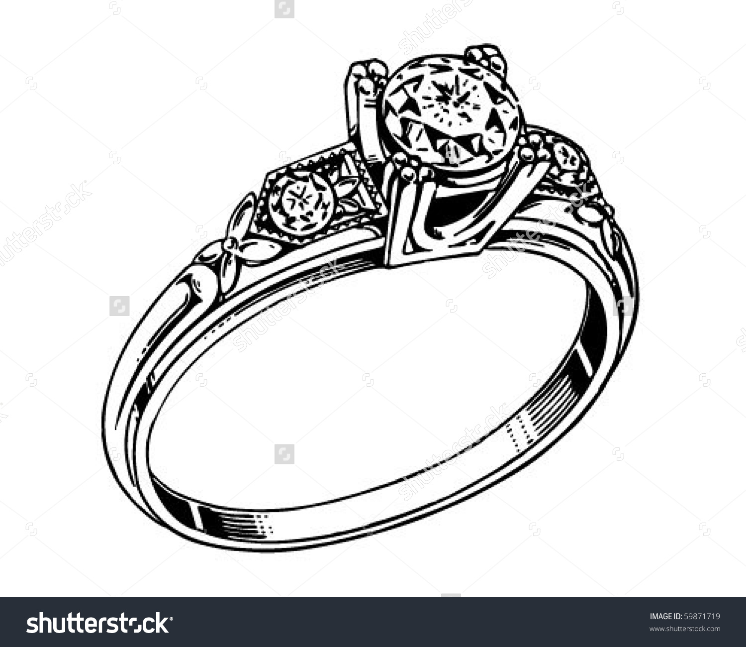 Engagement ring illustration