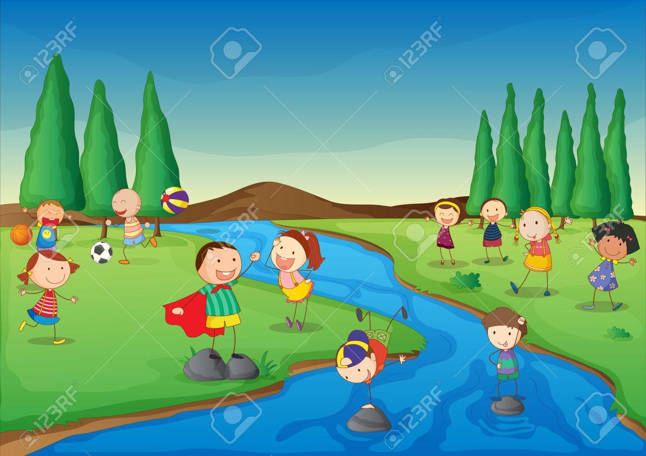 Kids Playing In Water Bin