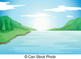 Clip Art Calm of Rivers