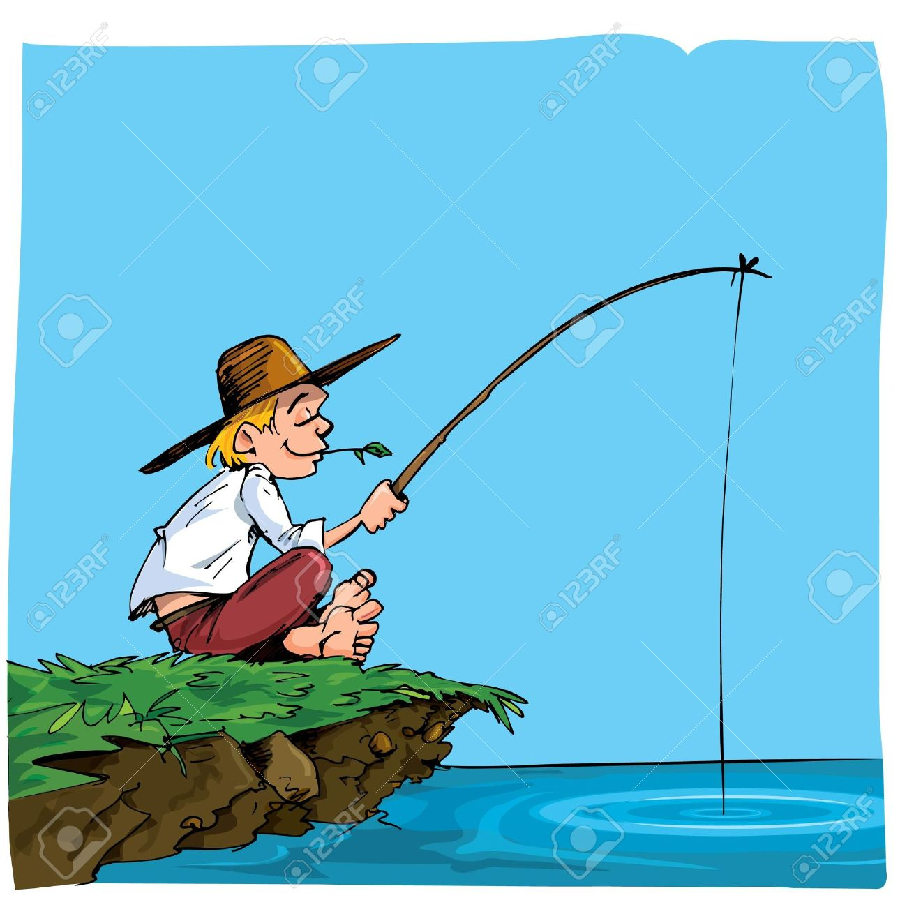 Riverbank clipart clipart panda free clipart images for Where to go fishing