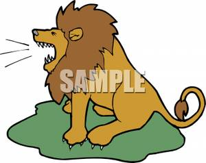 Clipart Image: A Lion Roaring | Clipart Panda - Free ...