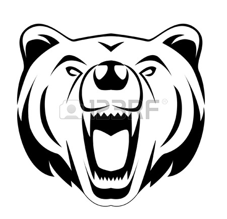 Roaring Bear Clipart | Clipart Panda - Free Clipart Images Bear Face Drawing