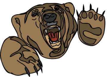 roaring-bear-clipart-bear attack pngRoaring Bear Clip Art