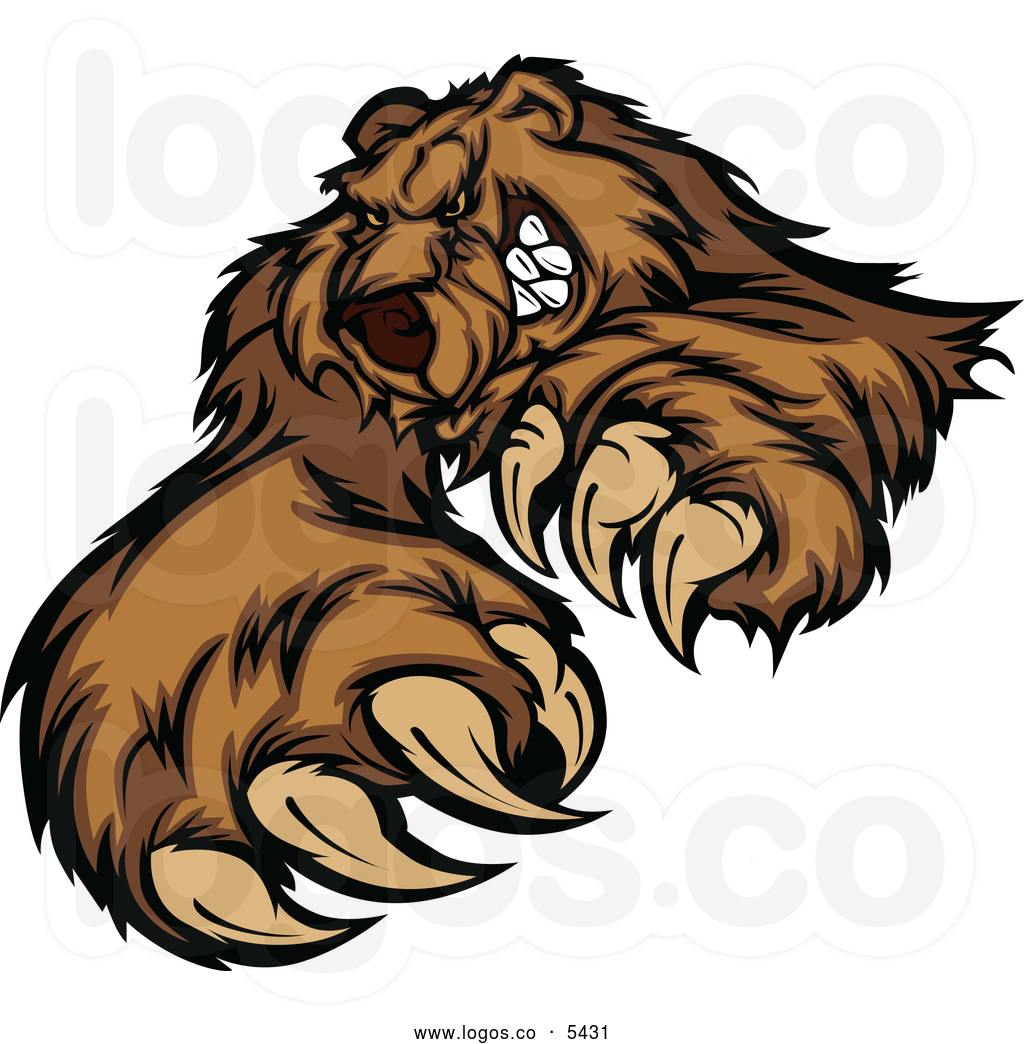 grizzly bear mascot clipart clipart panda free clipart Bear Claw Outline bear claw graphics for jeep jk door