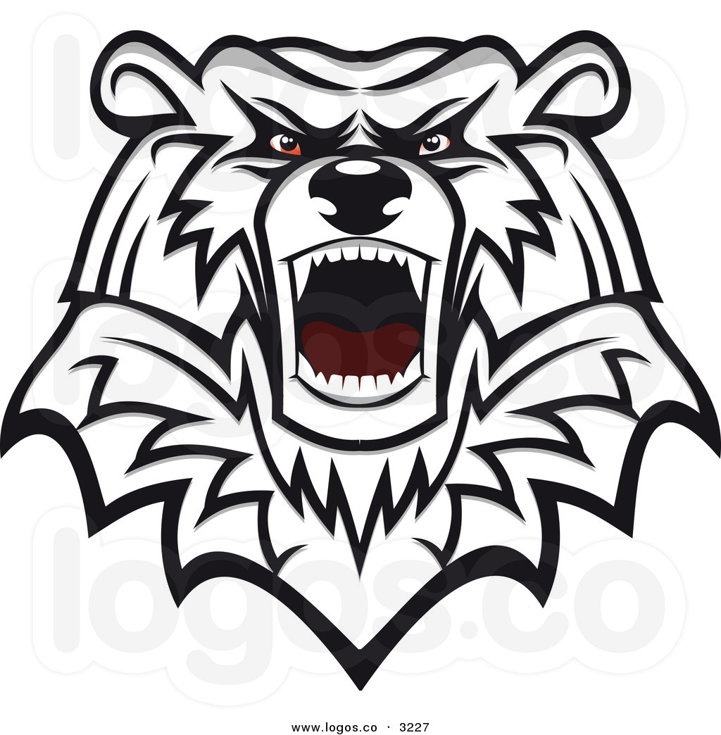 Bear growling. Grizzly clipart panda free