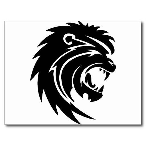roaring%20lion%20black%20and%20white