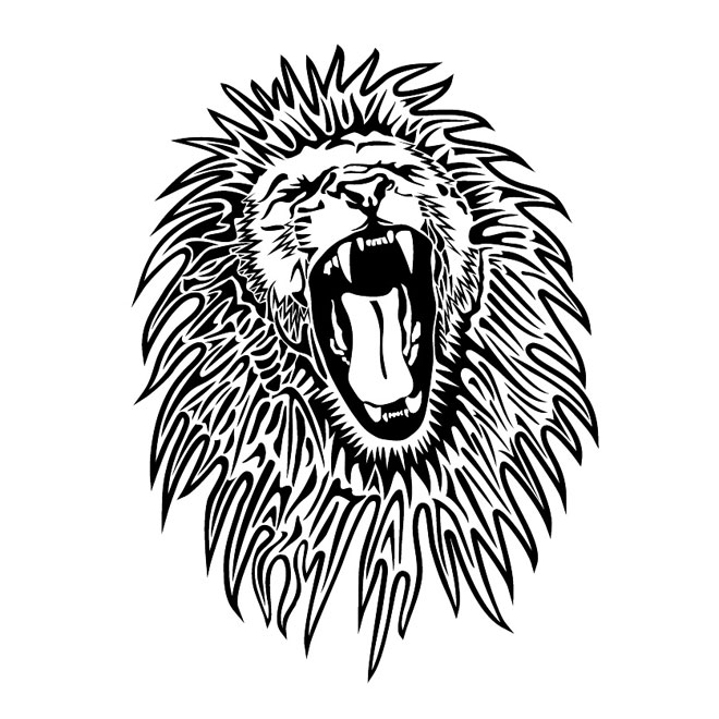 Roaring Lion Black And White | Clipart Panda - Free ...