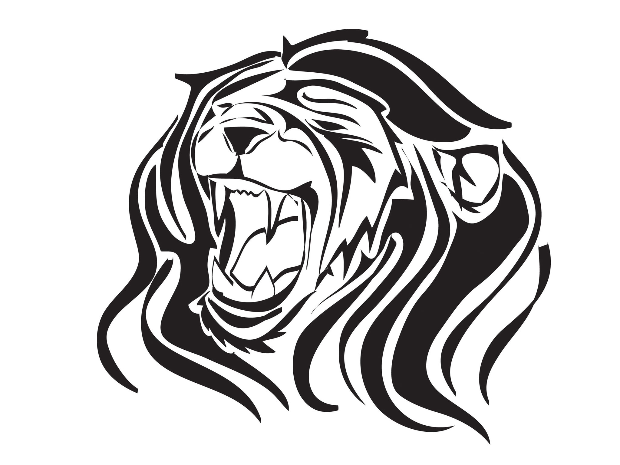 Lion Roaring Drawing | Clipart Panda - Free Clipart Images - photo#39