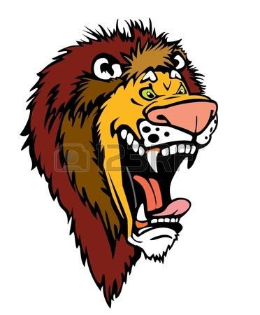 Lion cartoon head - photo#19