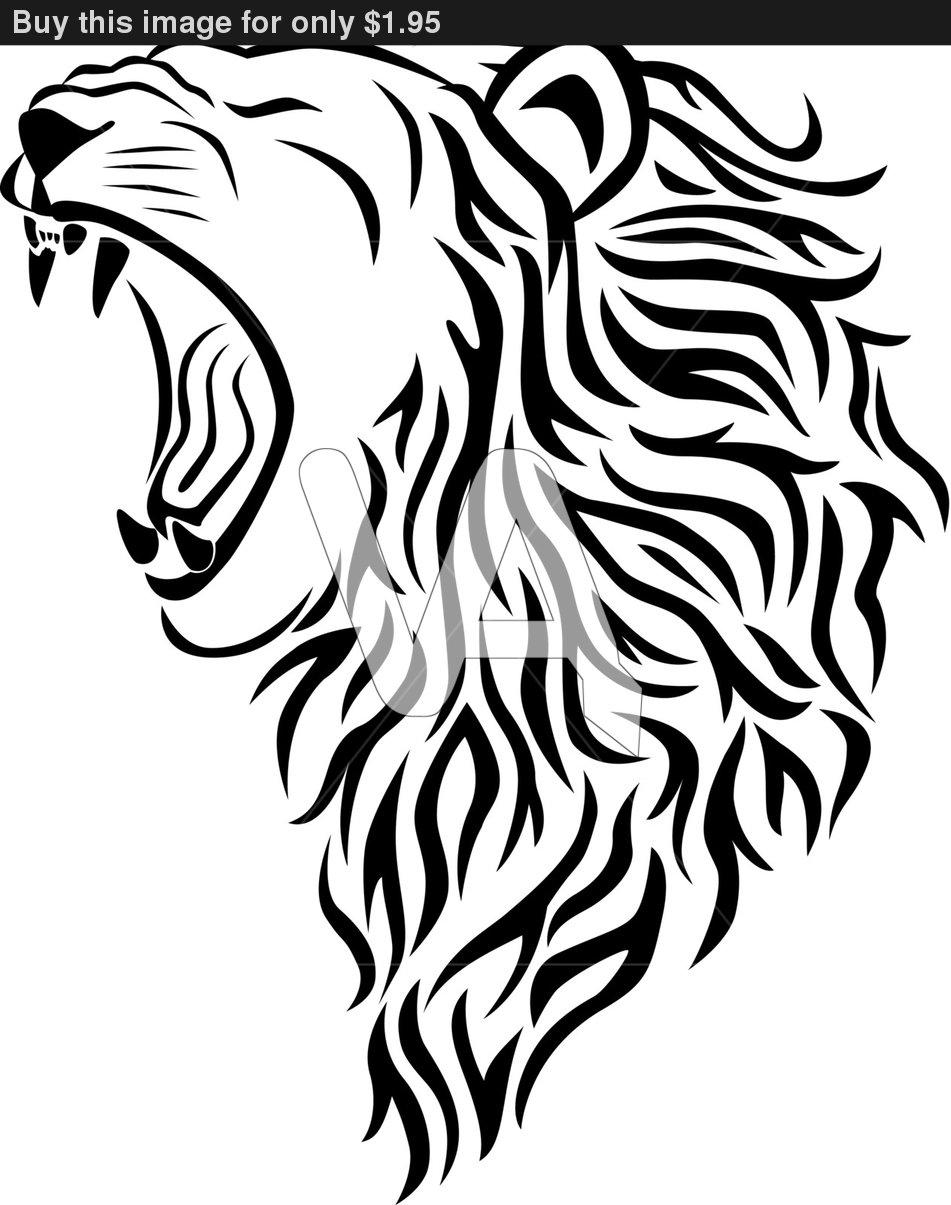 Lion roar vector - photo#18