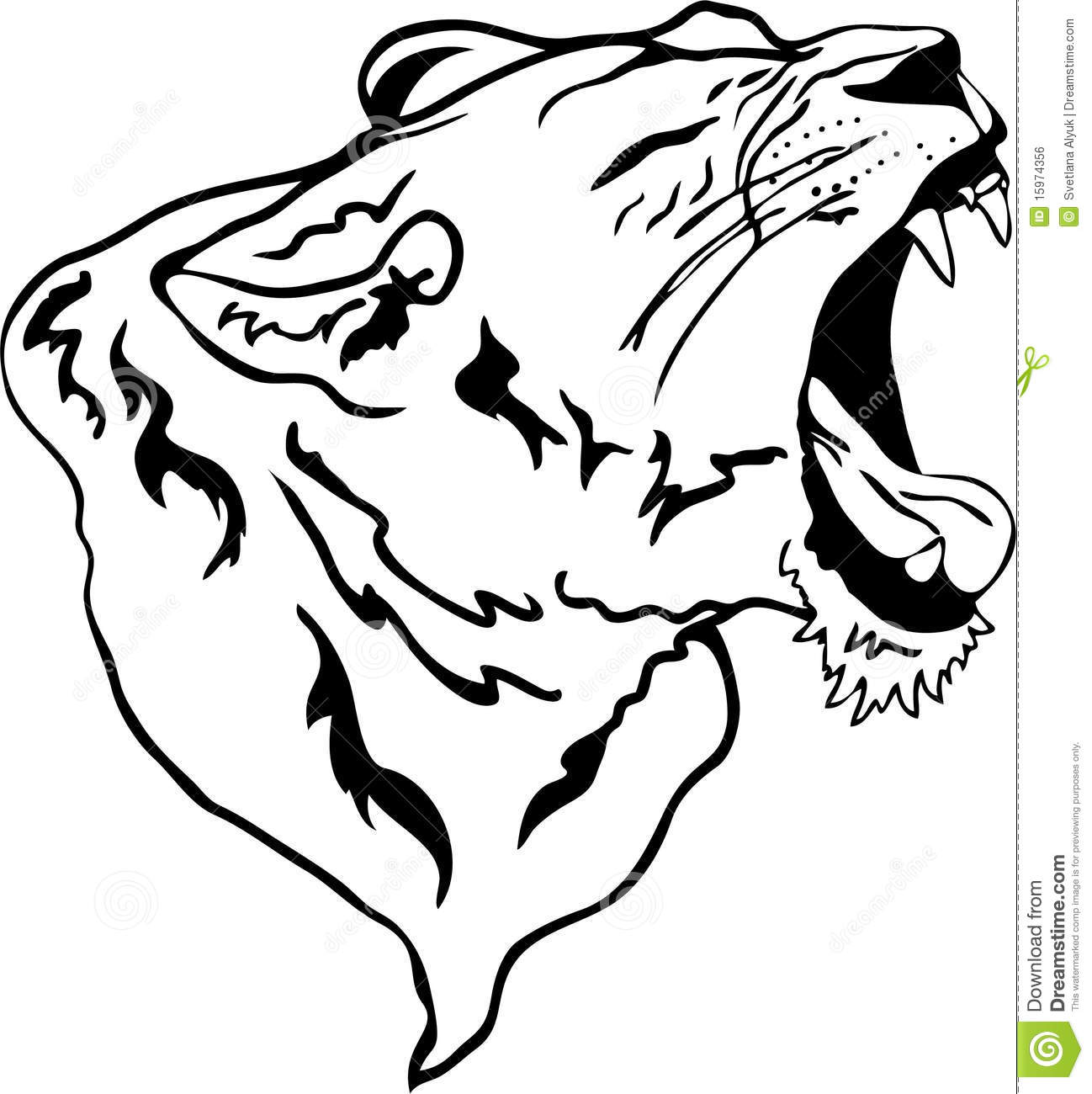 Lion Roaring Drawing Clipart Panda Free Clipart Images