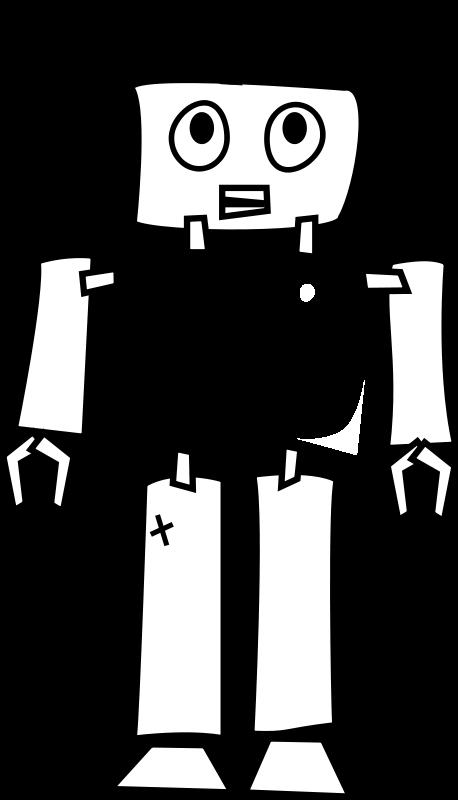 Line Art Vector Illustrator : Robot clipart panda free images