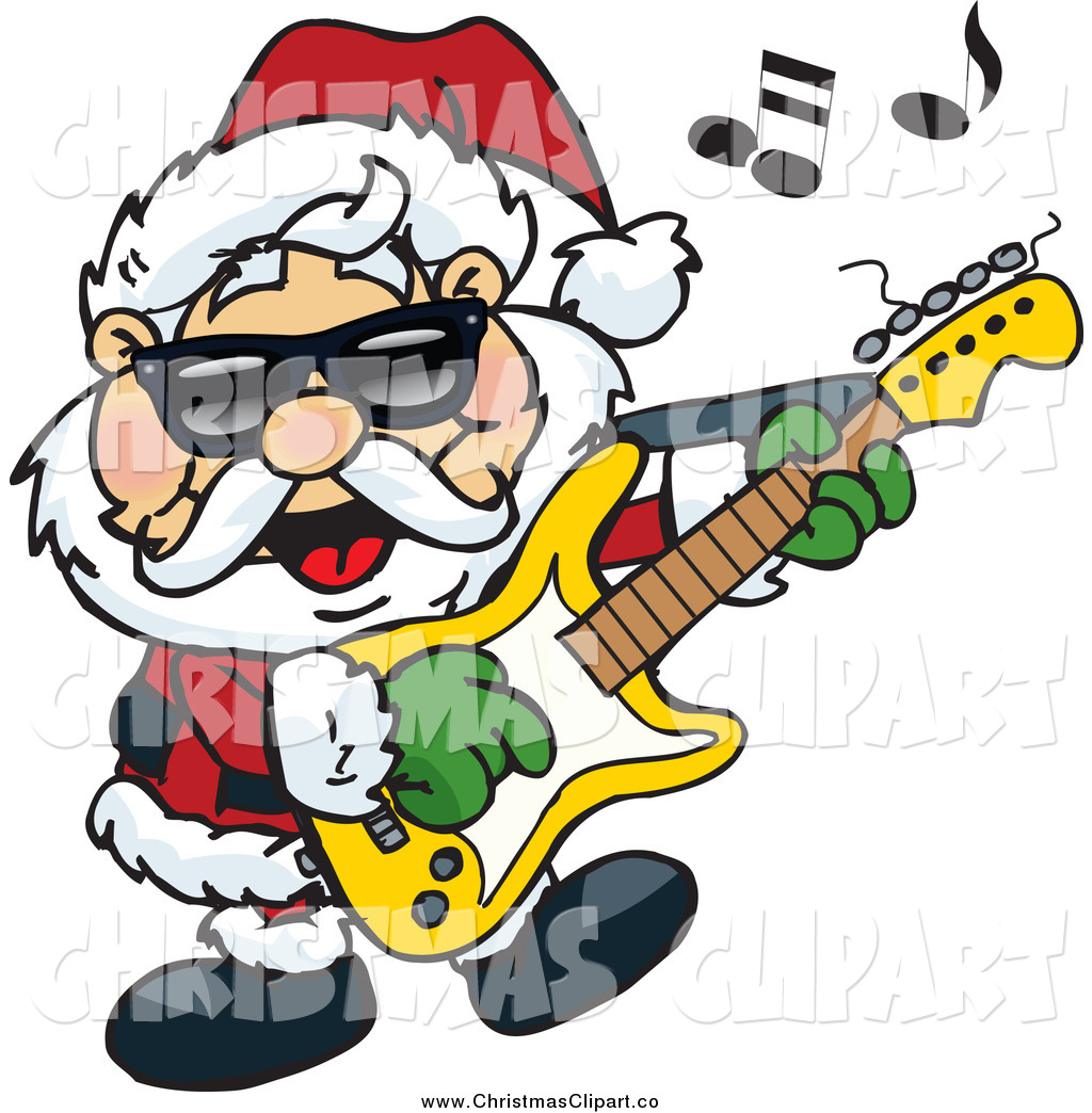 Rock N Roll Christmas Tree: Rock And Roll Guitar Clip Art