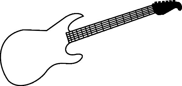 Rock Guitar Outline | Clipart Panda - Free Clipart Images