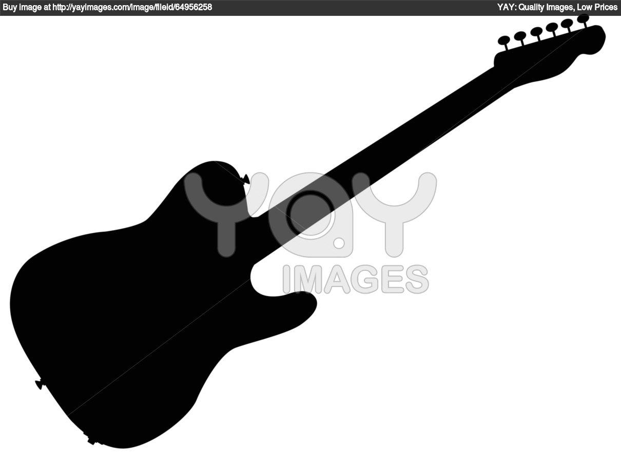 Rock Guitar Silhouette   Clipart Panda - Free Clipart Images