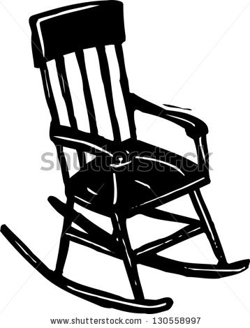 Superieur Rocking Chair Clipart Black And White