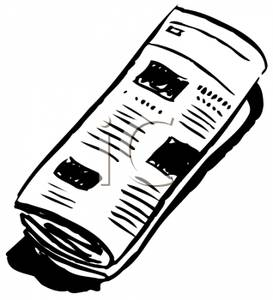 Newspaper Clipart Black And White