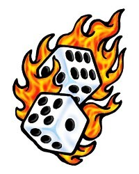 classic flaming dice fake clipart panda free clipart images. Black Bedroom Furniture Sets. Home Design Ideas