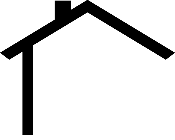 Line Art House Png : House outline clipart black and white panda
