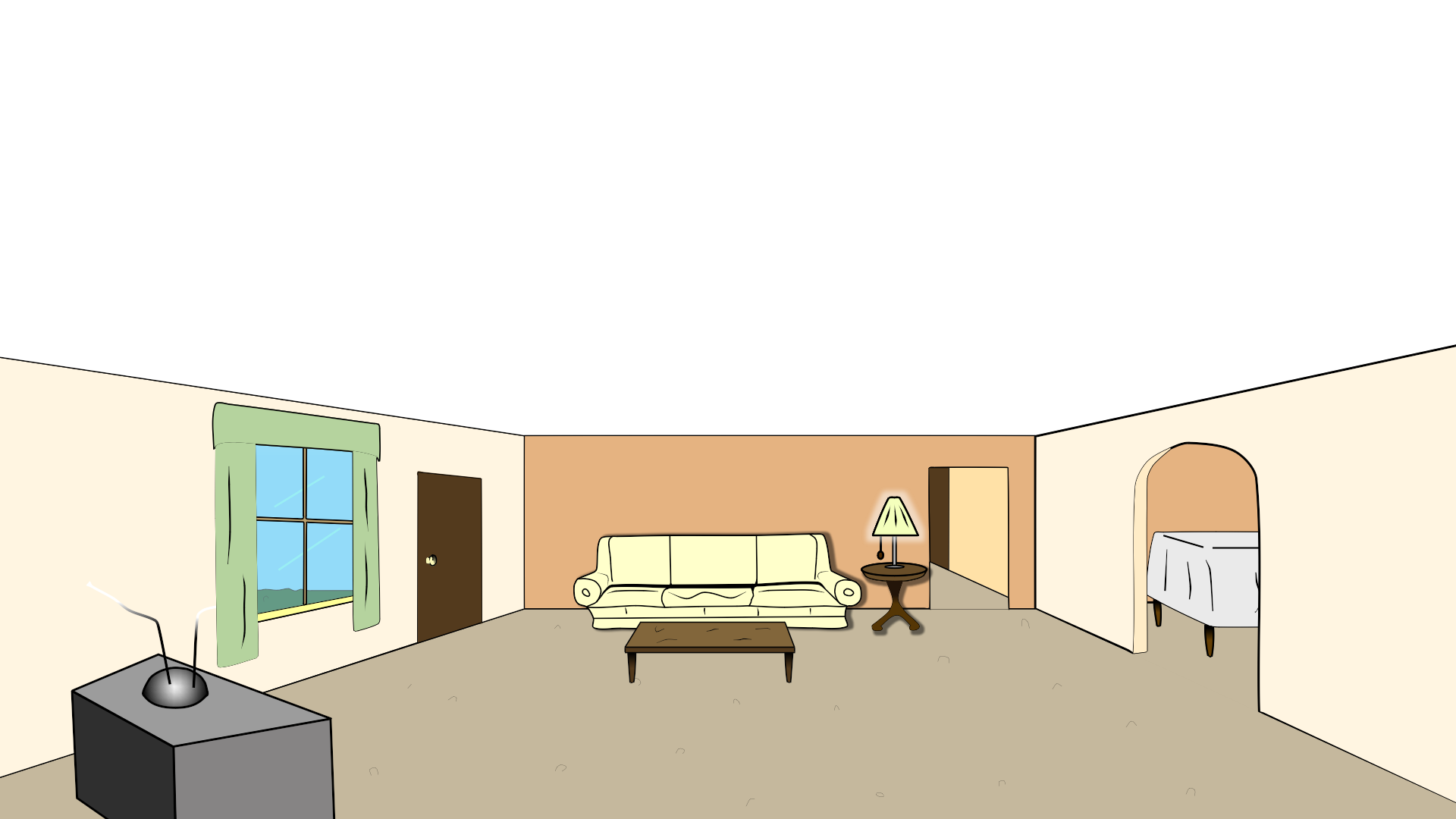 Living Room Cartoon Clipart