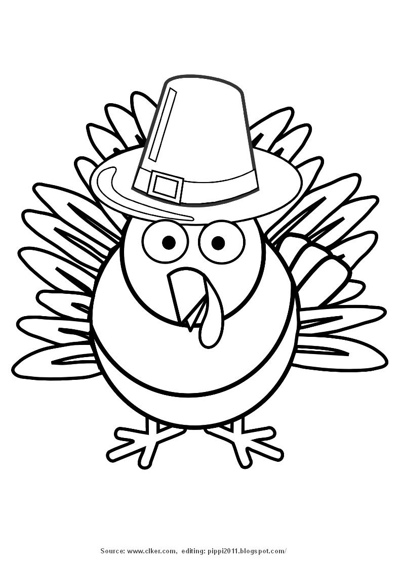 happy thanksgiving turkey coloring pages clipart panda free clipart images - Free Coloring Pages Turkey