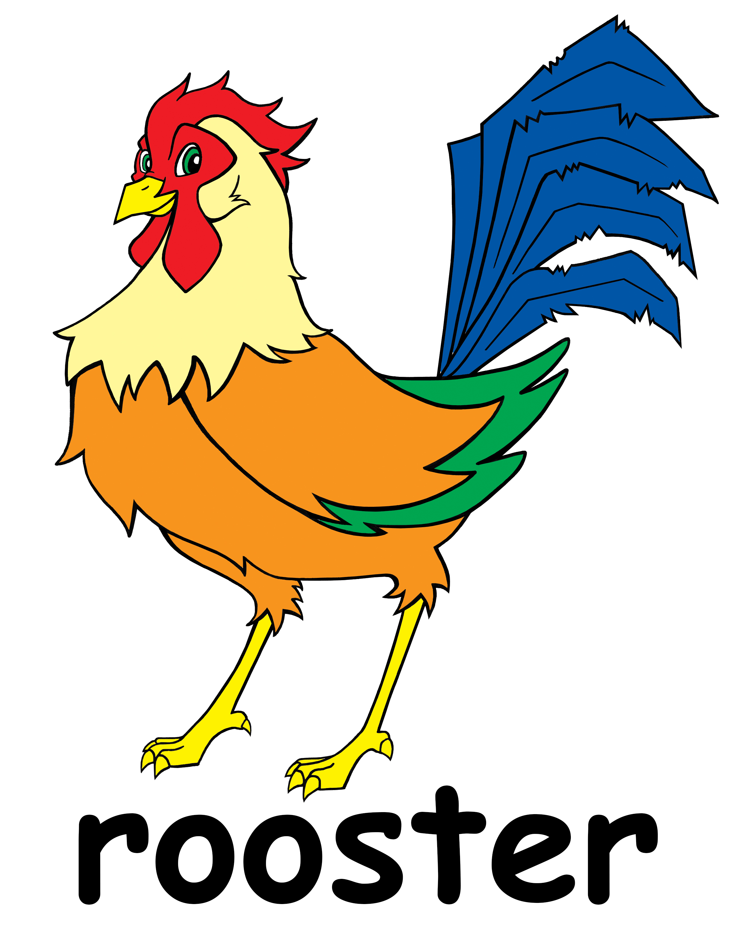 rooster clip art images - photo #24