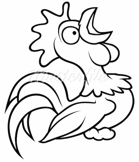 rooster clipart black and white clipart panda free