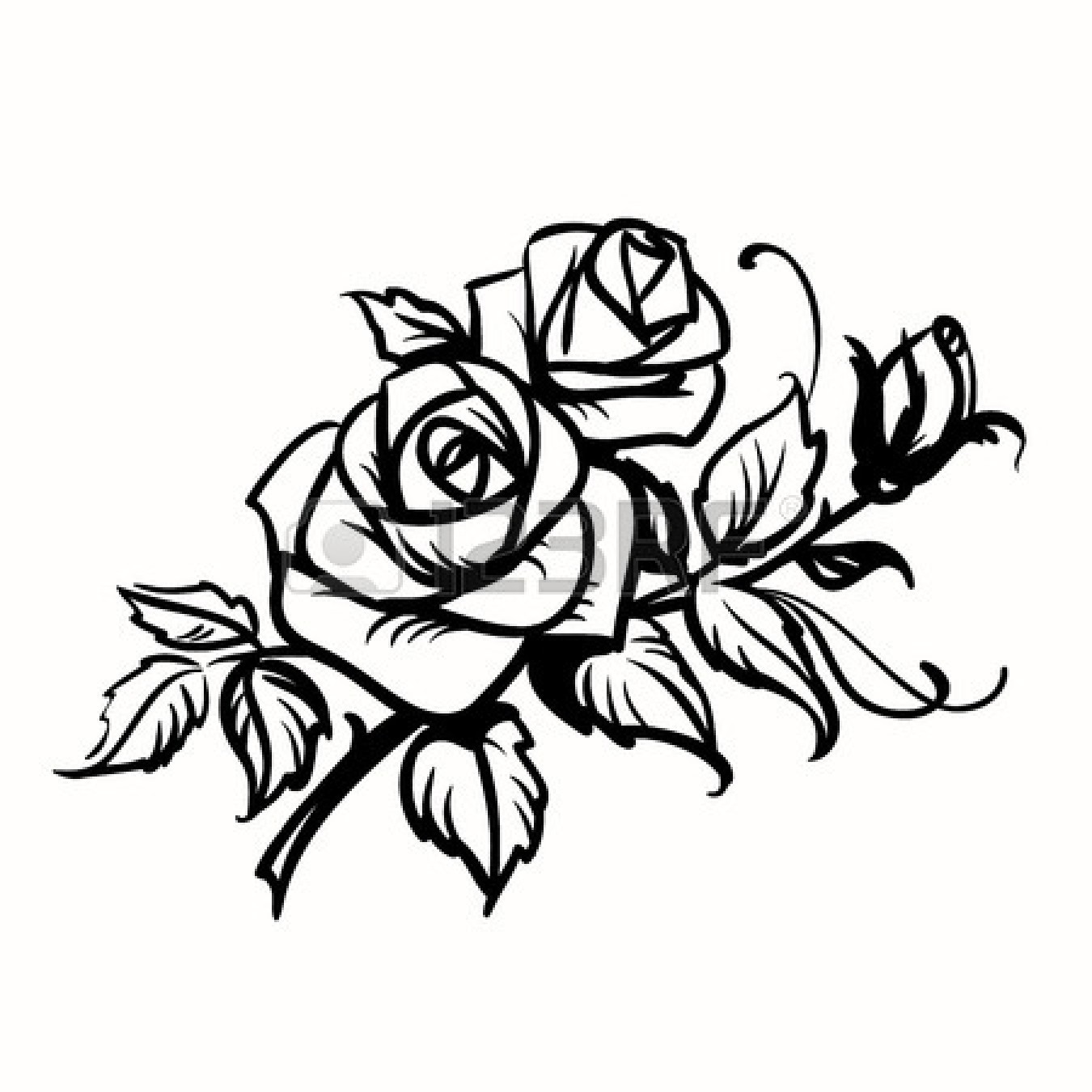Rose black and white outline clipart panda free clipart images rose20black20and20white20outline mightylinksfo Gallery