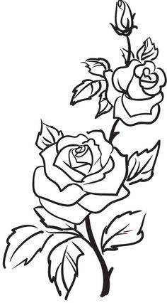 Rose Black And White Outline | Clipart Panda - Free ...