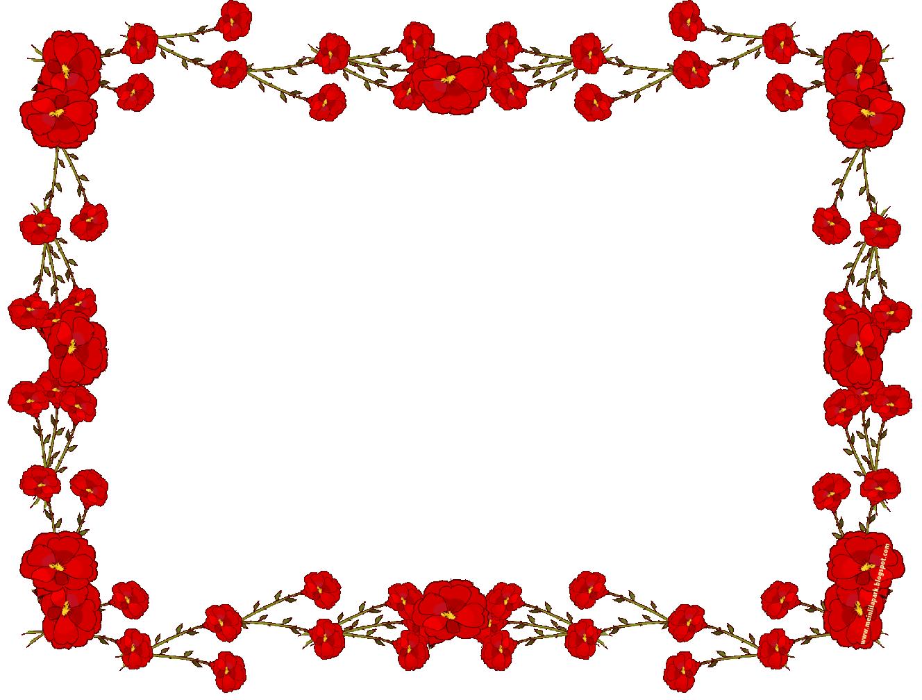 Beautiful Flowers Border Design | Joy Studio Design ...