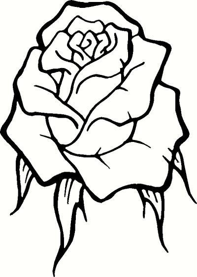 Rose Clip Art Outline | Clipart Panda - Free Clipart Images