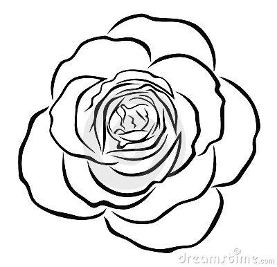 Rose outline. Clip art clipart panda
