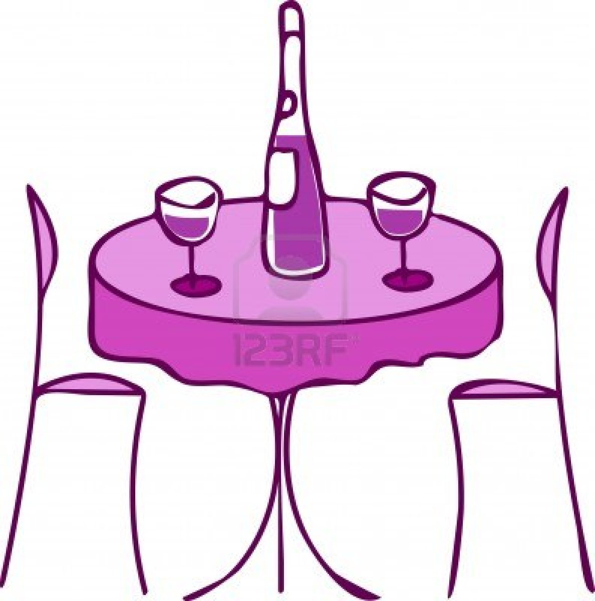 Restaurant tables and chairs clipart - Round 20kitchen 20table 20clip 20art
