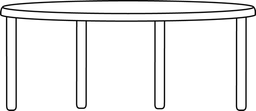 Table Clip Art Black And White