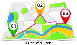 Route On The Map Clip Art Clipart Panda Free Clipart Images