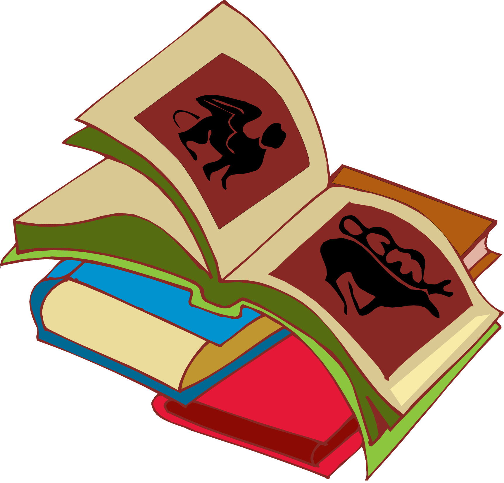 Row of books illustration clipart panda free clipart for Best sites for selling art