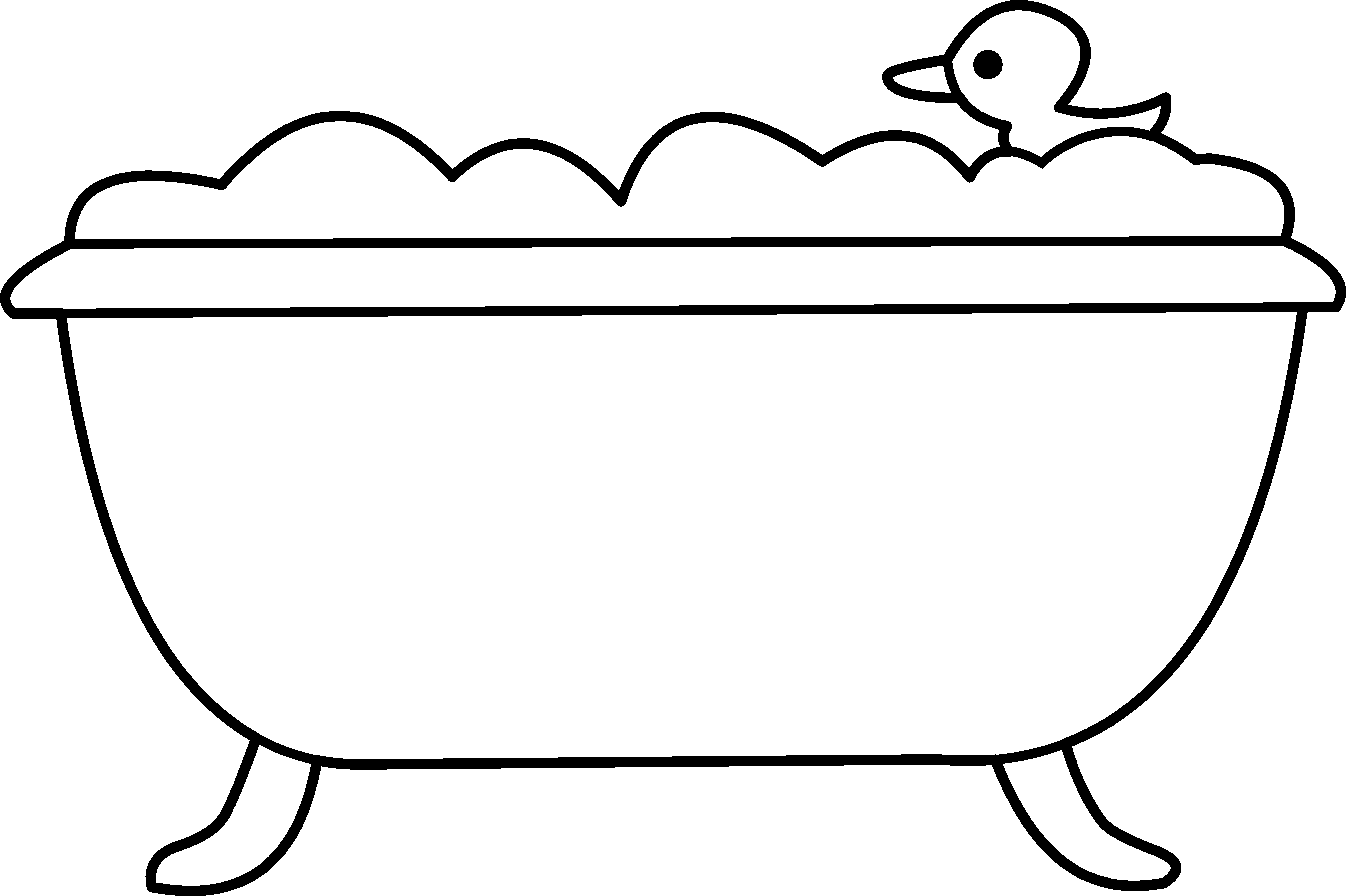 Line Art Duck : Rubber duck clipart black and white panda free