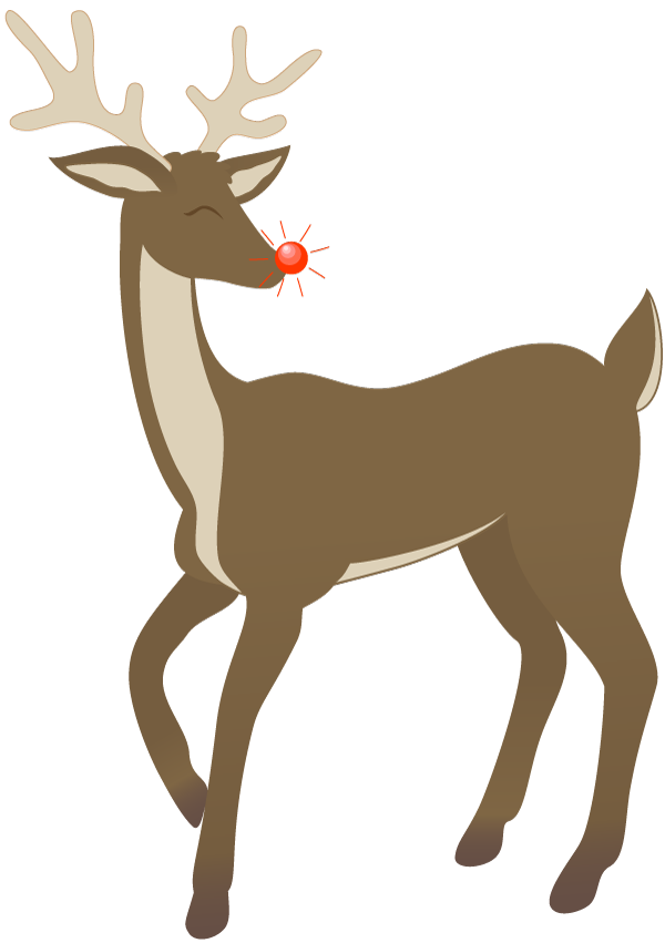 Rudolph Clip Art Black And White | Clipart Panda - Free Clipart Images