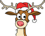 Rudolph Clip Art Face | Clipart Panda - Free Clipart Images