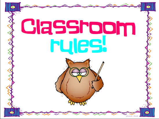 Image result for classroom rules sign free clipart
