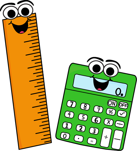 Ruler and Calculator Clip Art
