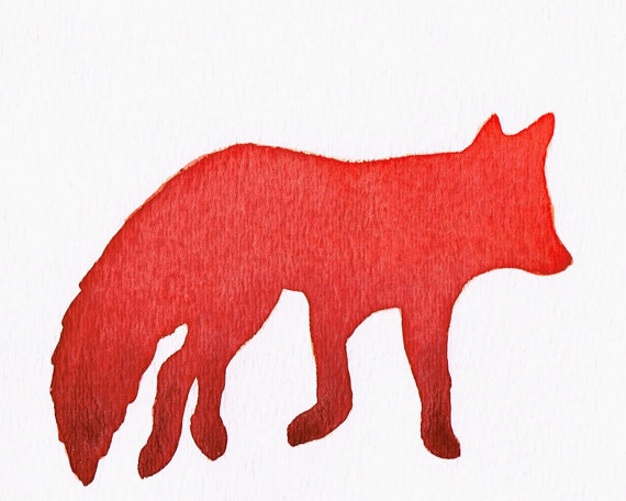 ninja silhouette red fox - photo #3