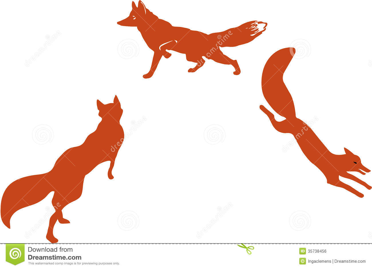 Running Fox Silhouette Clipart Panda Free Clipart Images